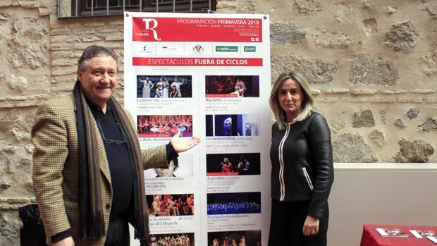 Milagros Tolón y Francisco Plaza, ayer durante la presentación de la programación del Rojas