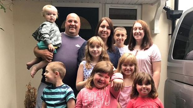 La familia, al completo