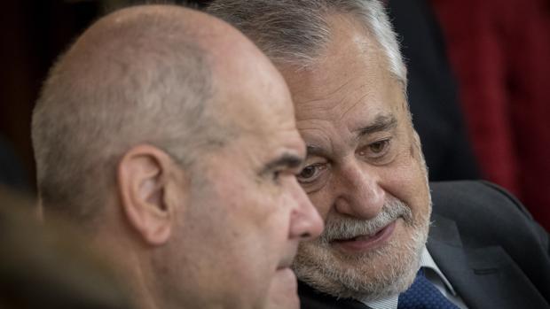 Manuel Chaves y José Antonio Griñán, en el banquillo de los acusados del juicio de los ERE
