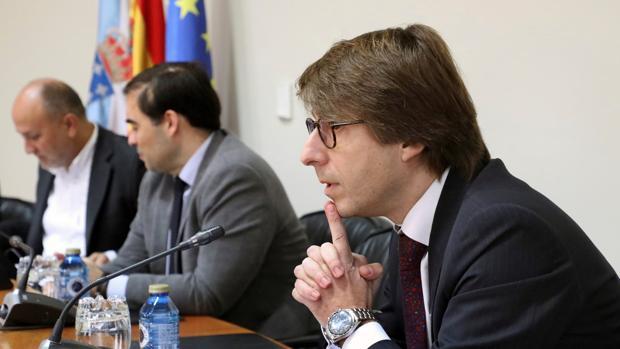 El direrctor xeral de Planificación e Orzamentos, Miguel Corgos, en su comparencencia en el Parlamento