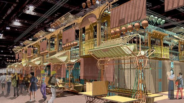 Fotomontaje del stand madrileño en Fitur