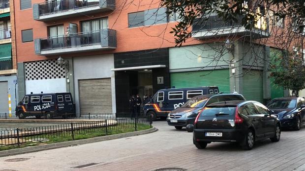 Imagen de la operación desarrollada este miércoles por la Policía Nacional
