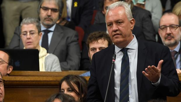 El diputado Santi Rodríguez en el pleno del Parlament celebrado este miércoles