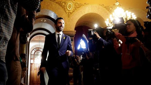 Roger Torrent, hoy en el Parlamento de Cataluña