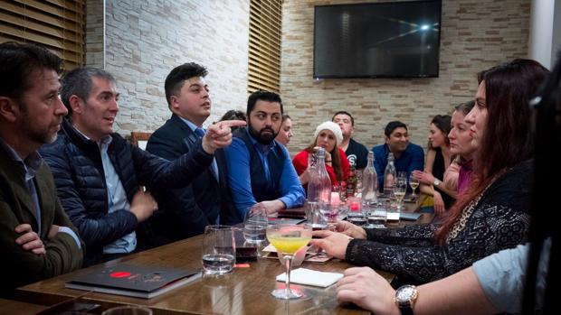 Carlos Alonso, Fernando Clavijo y canarios que viven en Manchester