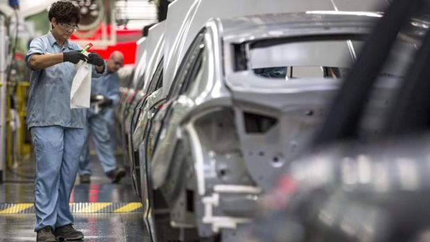 Cadena de producción en la planta de Ford Almussafes