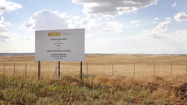 Los terrenos donde se construirá el almacén de residuos nucleares en el municipio de Villar