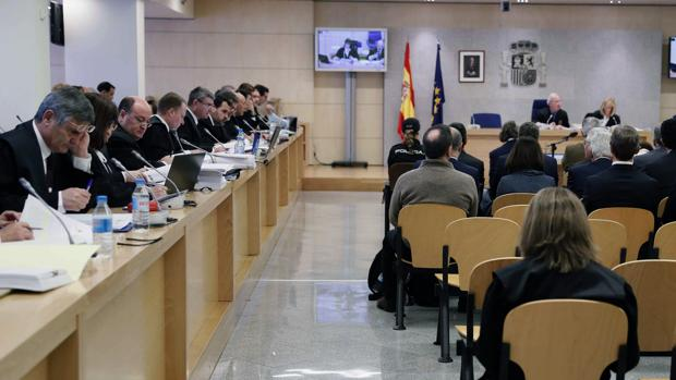 La sala de vistas de la Audiencia Nacional donde se celebra el juicio por la financiación ilegal del PP de Valencia