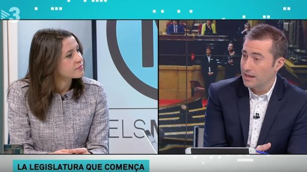Arrimadas, ayer en TV3