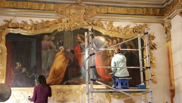 Imagen de los trabajos de restauración
