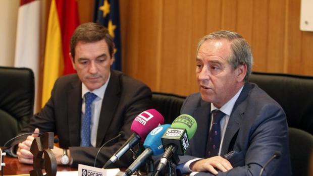 Félix Peinado y Ángel Nicolás, secretario general y presidente de Cecam, la patronal castellano-manchega