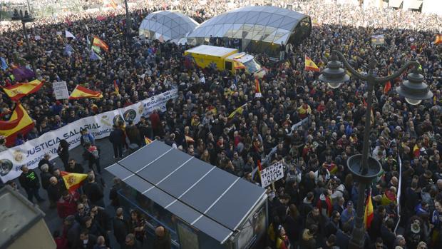 Manifestación en Madrid de Policía Nacional y Guardia Civil el pasado mes de noviembre