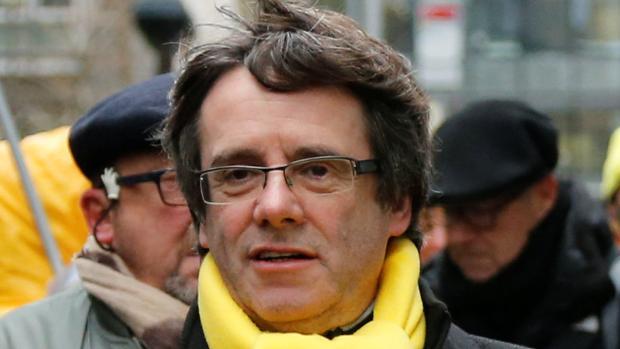 Puigdemont en una manifestación independentista en Bruselas