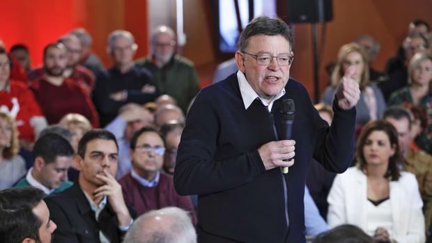 Ximo Puig, en la asamblea de partido en Valencia