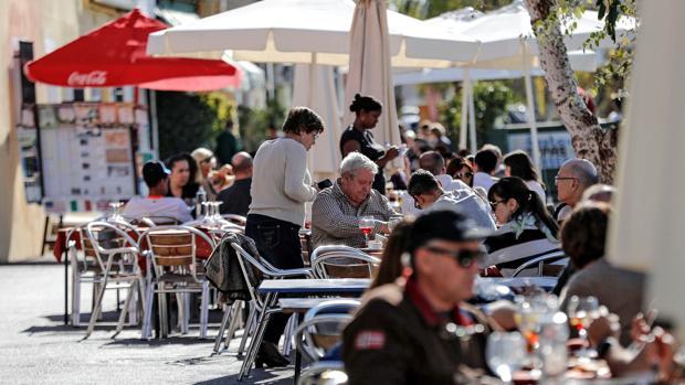 Terrazas en Valencia este domingo, 21 de enero