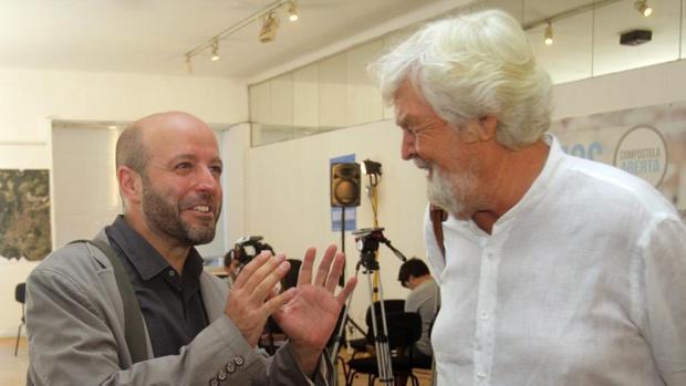 Luís Villares, a la derecha, y Xosé Manuel Beiras