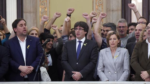 Junqueras, Puigdemont y Forcadell