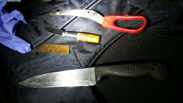 Parte de las armas incautadas a los pandilleros