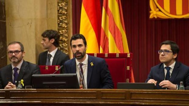 Roger Torrent, en el Parlament