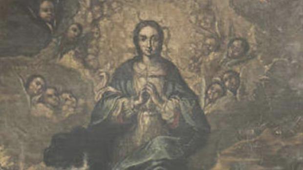 Cuadro de la Inmaculada, del siglo XVIII, recuperado por Aragón en el Museo de Lérida