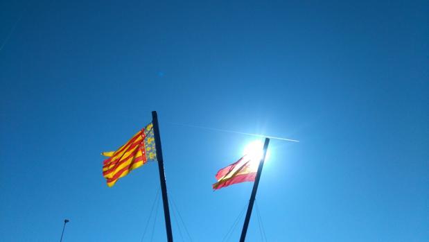 Imagen tomada este lunes en la Marina de Valencia