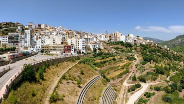 Vista panorámica de Lucena del Cid (Catelllón)