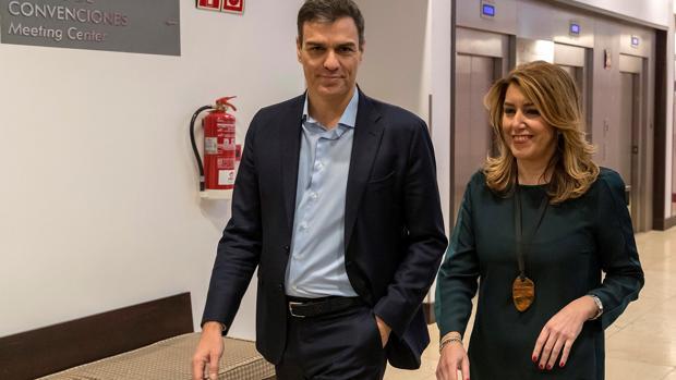 Pedro Sánchez y Susana Díaz, hoy en Sevilla