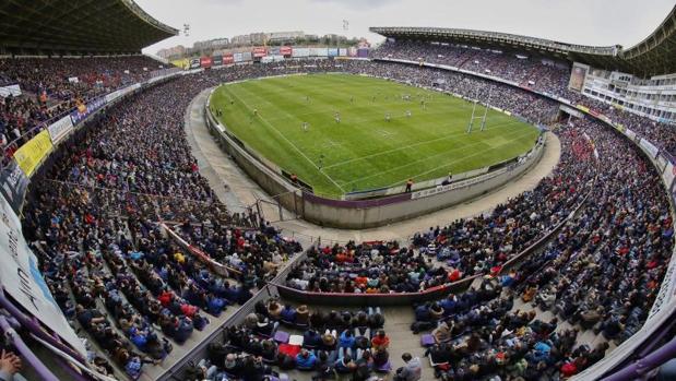 El estadio José Zorrilla, en la edición del 2016 de la Copa del Rey de Rugby
