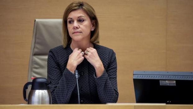 María Dolores de Cospedal, durante su comparecencia hoy en el Congreso