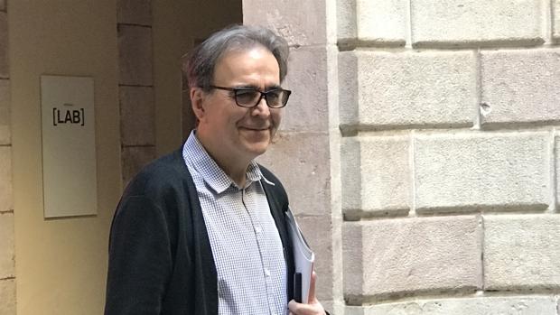 Joan Subirats, nuevo comisionado de Cultura, ayer en Barcelona