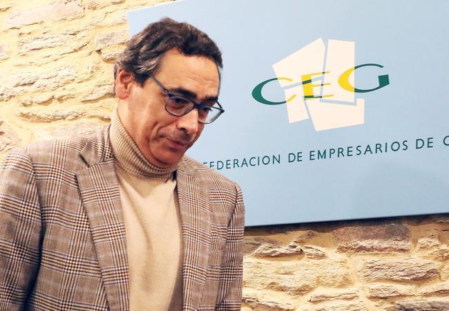 Antón Arías, tras anunciar su dimisión como presidente de la CEG