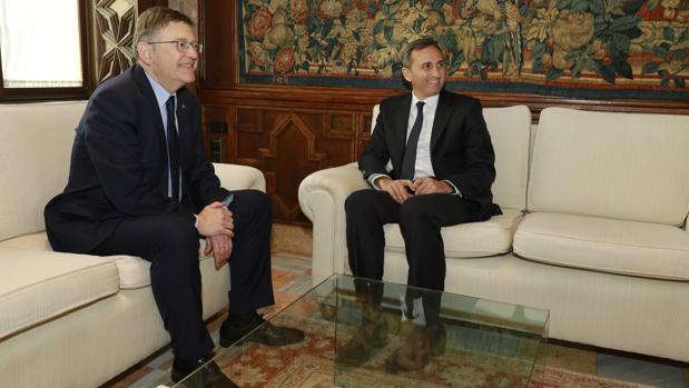Puig y Sánchez este jueves en el Palau de la Generalitat Valenciana