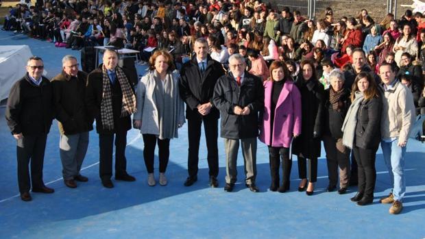 El consejero de Educacion Ángel Felpeto en Escalona