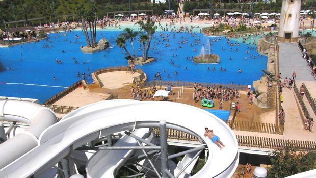 Instalaciones del parque acuático del hotel «Magic Natura» de Benidorm