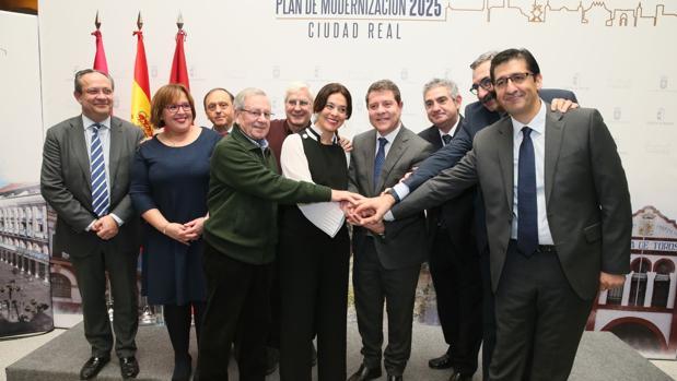 Todos los presentes en la presentación del Plan de Modernización 2025