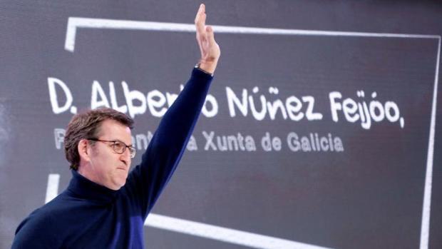 El presidente de la Xunta, durante el acto celebrado este sábado