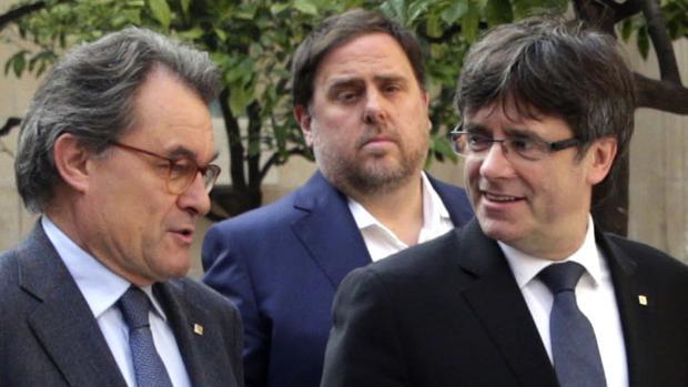 Artur Mas, Oriol Junqueras y Carles Puigdemont, en una imagen de archivo