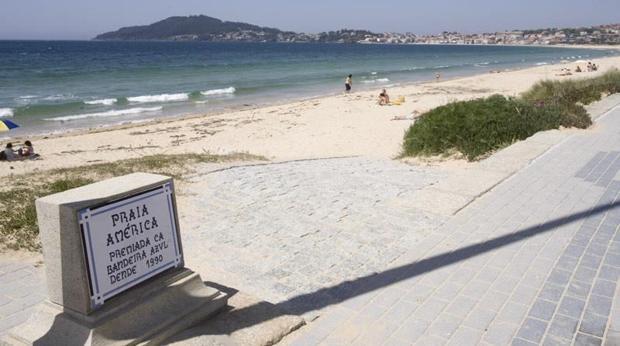 Imagen de Playa América, en el municipio pontevedrés de Nigrán