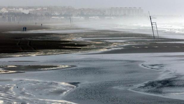 Efectos del temporal marítimo, este domingo en Valencia