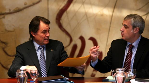 Artur Mas y Germà Gordó, en una foto de archivo