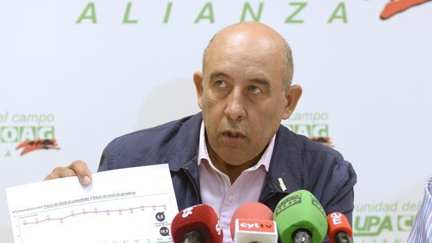 El líder de la Alianza UPA-COAG, Aurelio Pérez