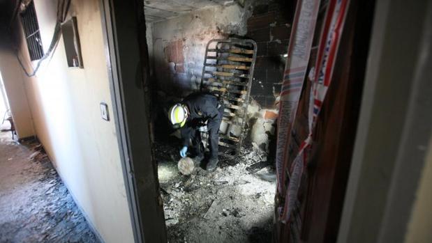 Bomberos, en el incendio en el que se ha producido el fuego