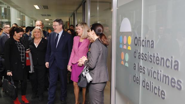 Imagen de Ximo Puig tomada este lunes en la Ciudad de la Justicia de Valencia