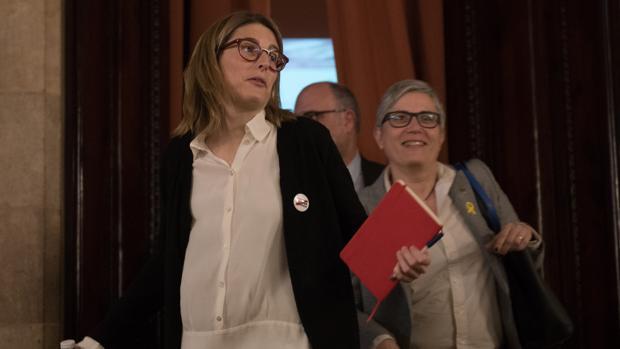 La diputada de Junts per Catalunya Elsa Artadi en el Parlamento