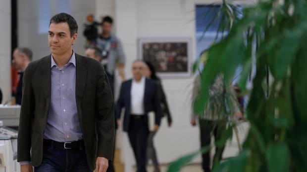 Pedro Sánchez, esta mañana, en el Congreso de los Diputados