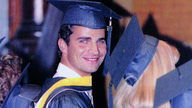 Don Felipe, durante la graduación en la Universidad de Georgetown, Estados Unidos