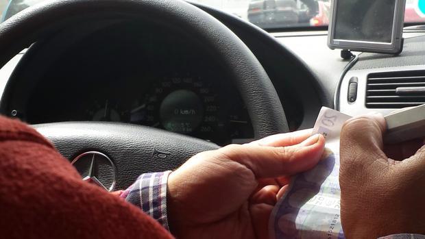 Un taxista en una imagen de archivo