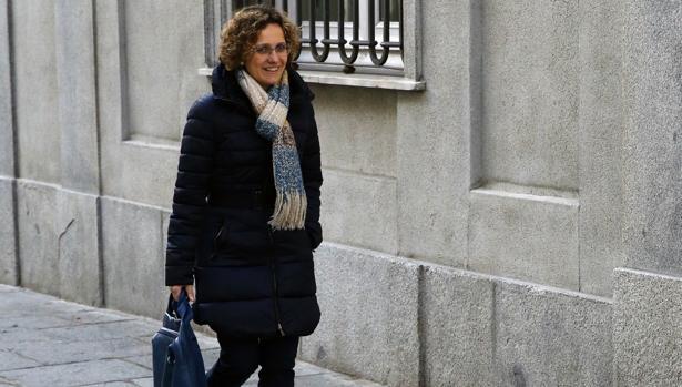 Meritxell Ruiz, la exconsejera de la Generalitat catalana, llegando al Tribunal Supremo
