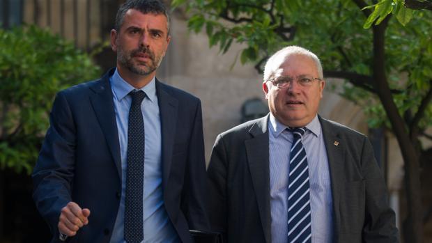 Santi Vila (izquierda) y Lluis Puig, en una imagen de archivo