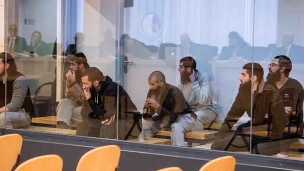 Los integrantes de una célula yihadista, desarticulada en 2015 en la operación Caronte, el lunes ante la Audiencia